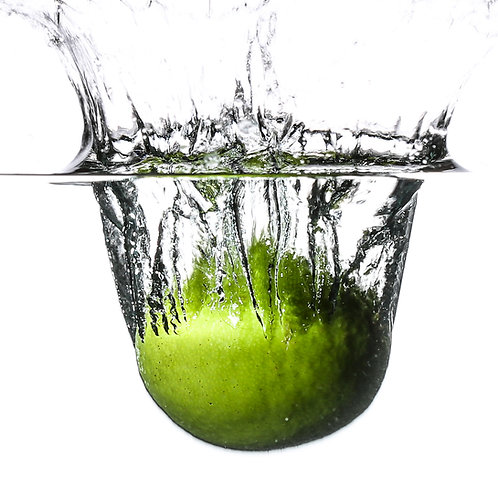 "Lime splash VII - 8x10"" print"