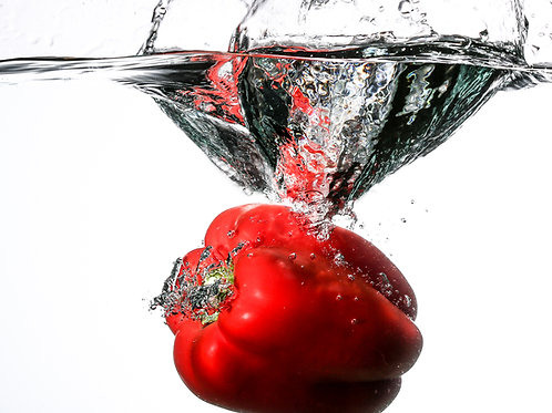 "Red pepper splash III - 8x10"" print"