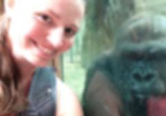 Ashley Edes & Moana, female gorilla at Columbus Zoo