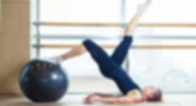Pilates and yoga ball