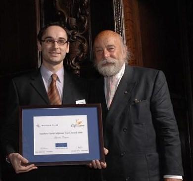 Premio Academia del Vino UK 2008. Trapero y Roy Ackerman,(Presidente de Honor de la Academia).