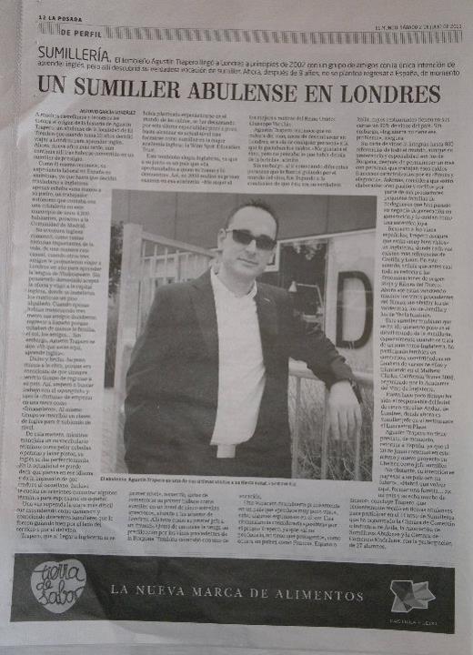 Entrevista en el periodico El Mundo