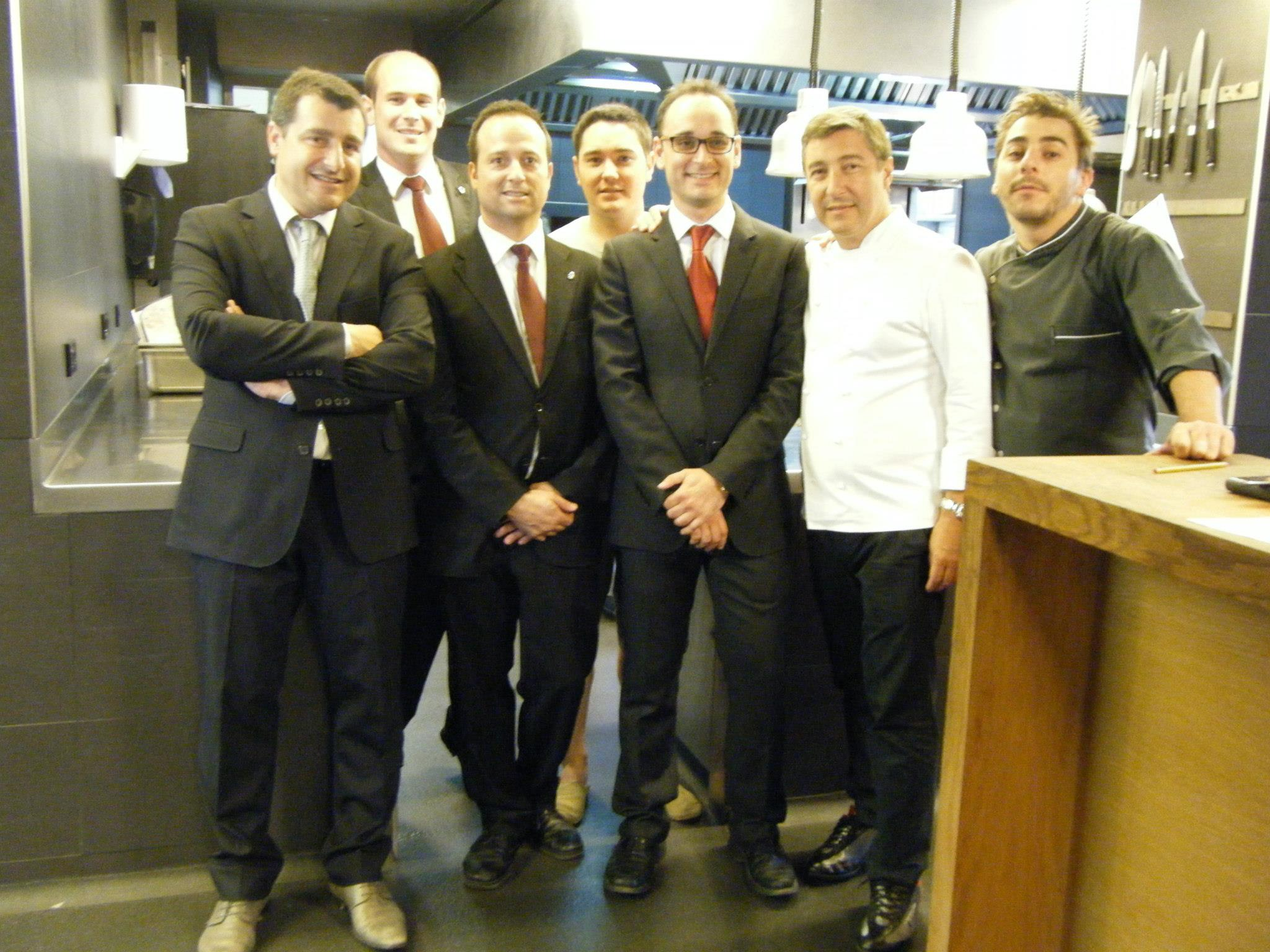 Roca brothers & sommelier team