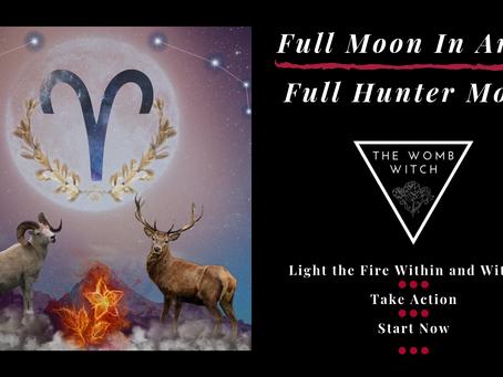 Full Hunter Moon in Aries ~