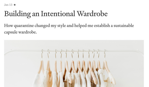 Building an Intentional Wardrobe