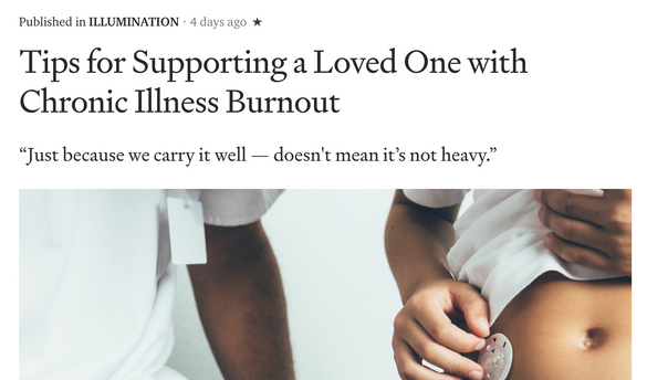 Tips for Supporting a Loved One with Chronic Illness Burnout