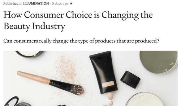 How Consumer Choice is Changing the Beauty Industry