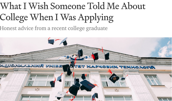 What I Wish Someone Told Me About College When I Was Applying
