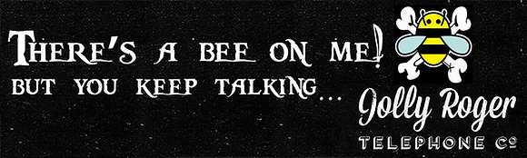 "Bumper Sticker - ""Bee on me"" (3""x10"")"