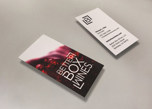 Better Box Wines business cards