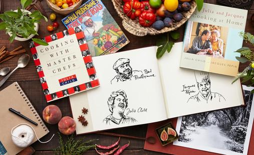 Chef portrait illustrations & glam styling