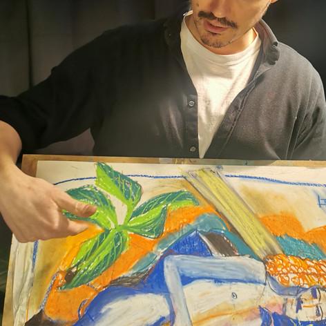 Tadeusz Fopp group critique one day pastel class
