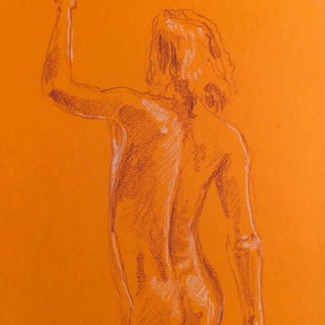 Drawing on coloured paper