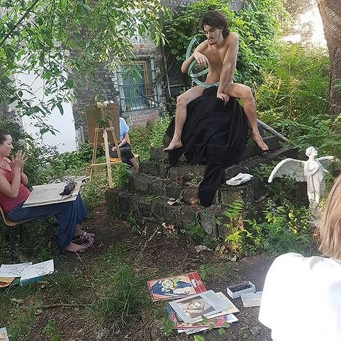 Summer Life drawing course _burntsiennab