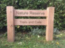 Oak ladder sign