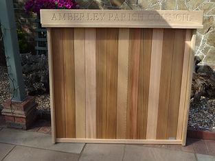 Cedar back open noticeboard