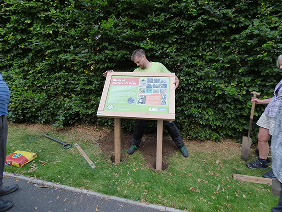 Woodland air-dried oak interpretation panel frame