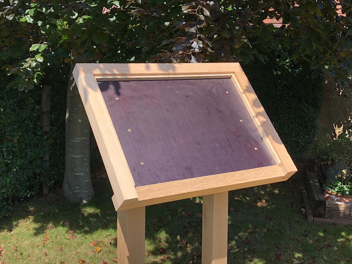 Downland oak information panel frame