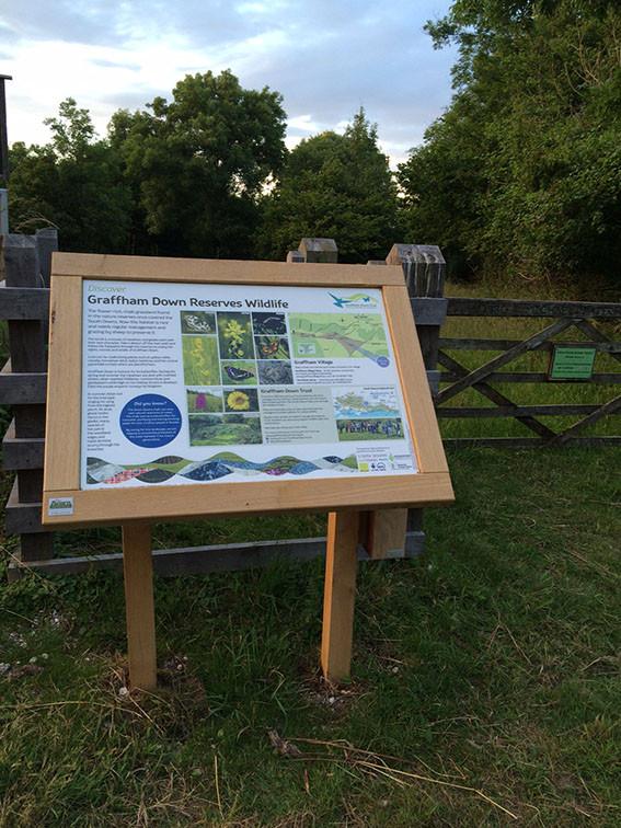 Woodland air-dried oak interpretation panel frame