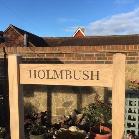Oak house name sign