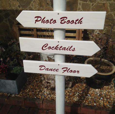 Wood arrow signs