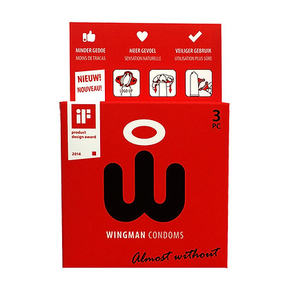 Wingman Condooms - Wingman Kondome - 3 Kondome