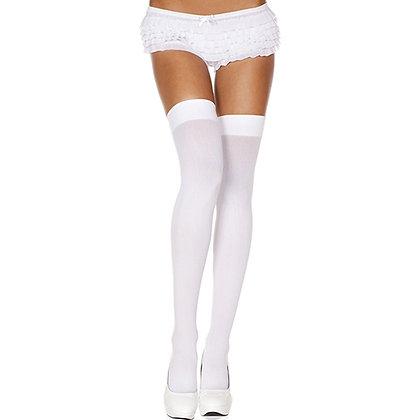 Music Legs - Basic-Strümpfe - Weiß