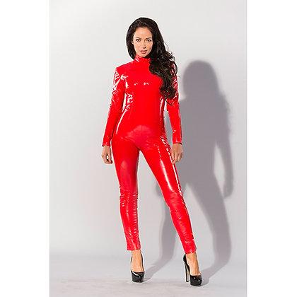 Guilty Pleasure - Datex Catsuit mit Reißverschluss - Rot