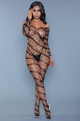 Be Wicked - Web of Love Catsuit - Plus Size