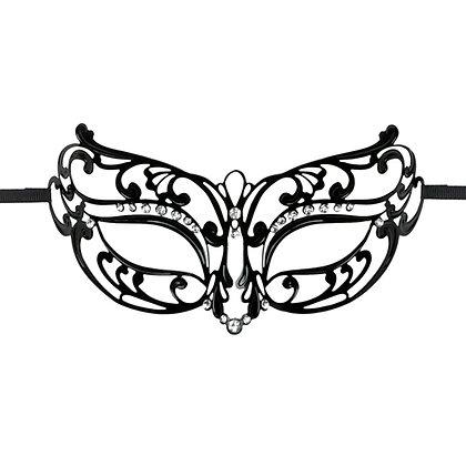 EasyToys - Stilvolle Maske aus Metall - Schwarz