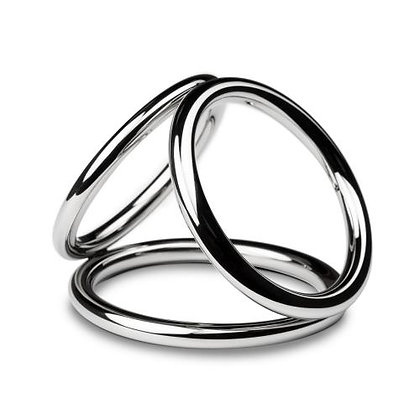Sinner - Triad Chamber Metall-Penis- und Hodenring - Large
