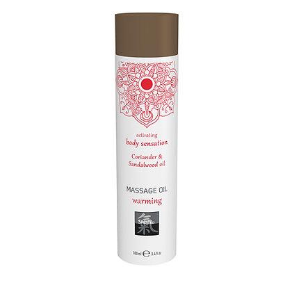 Shiatsu - Massageöl wärmend - Koriander und Sandelholz - 100 ml
