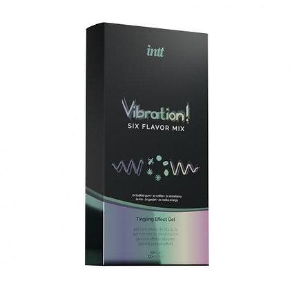 INTT - Vibrationen! Set mit 6 Arten prickelnden Gels - 30 ml