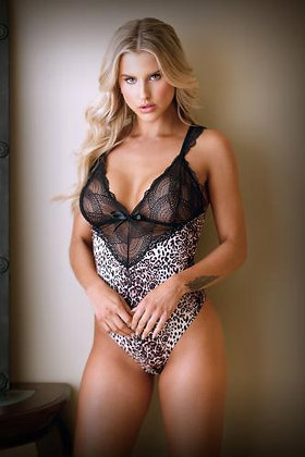 Tease - Lorena Body mit Spitze - Leopardenmuster