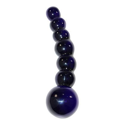Kugelförmiger Dildo aus Glas Icicles No 66 in Schwarz