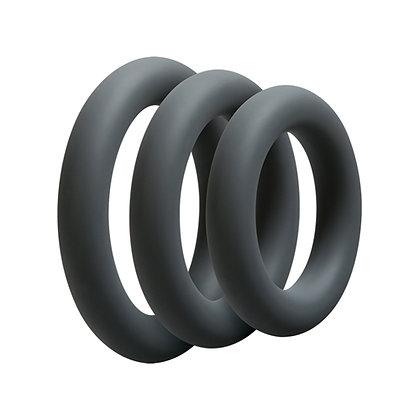 OptiMALE - 3-teiliges Penisring-Set in Grau