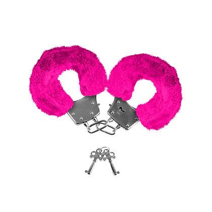 Neon Luv Touch - Neon Pelzmanschetten - Pink