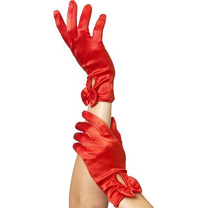 Fever - Handschuhe mit Schleife - Rot