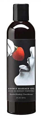 Earthly Body - Küssbares Massageöl - Erdbeere - 237 ml