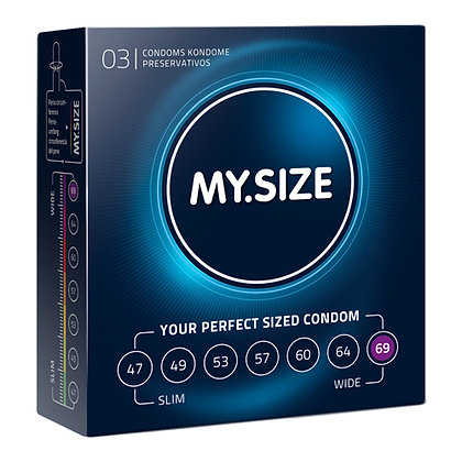 MY.SIZE - 69 mm - 3 Kondome