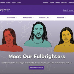 Set of portraits created for Northwestern University's Fulbright class.