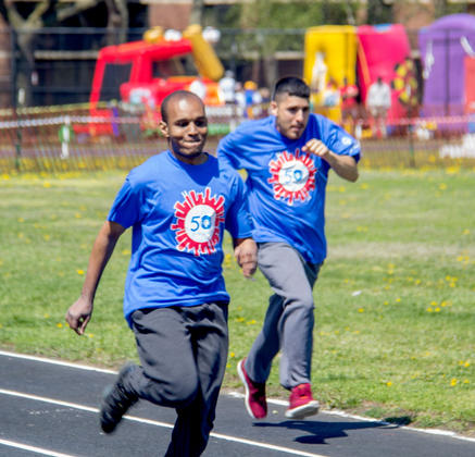 Photo from Chicago's Spring Special Olympics Games for WBEZ.