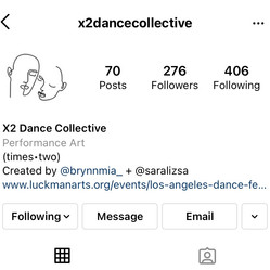 Original logo created for X2 Dance Collective along with other visual branding assets.