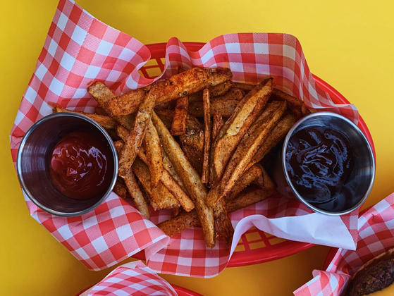 Photo from a Tenderly Mag recipe for vegan french fries.