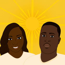 Portrait illustration commissioned by City Bureau to accompany the story of a widow whose husband died while in Cook County Jail.