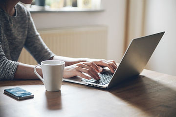 Woman searching on a computer