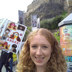 Flyering for Awake in Edinburgh 2017