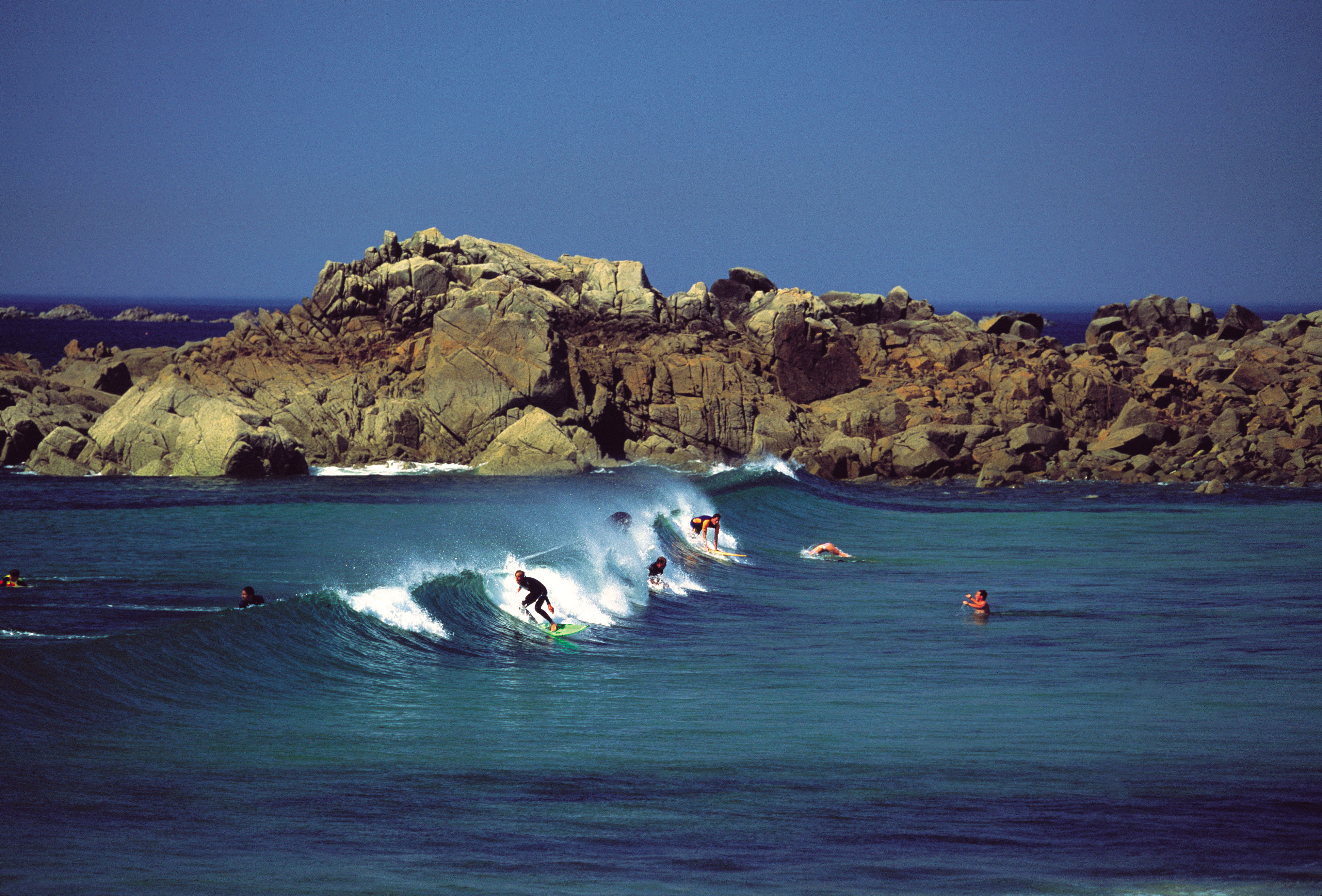 Surfers at Portinfer