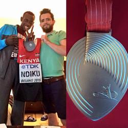 Caled Ndiku. 2nd in the World