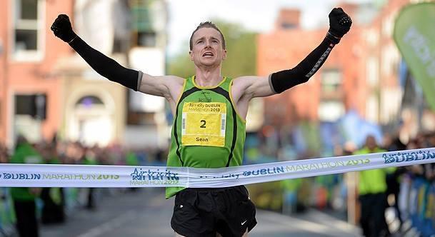 Sean Hehir winning Dublin Marathon